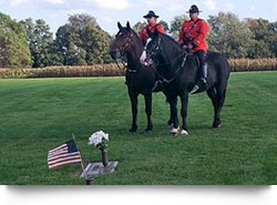 Mounted Police at a Graveside Service in Lancaster County
