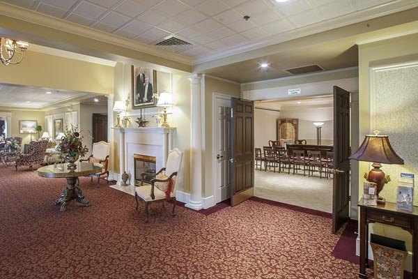 Lobby of Lititz Pike Funeral Home in Neffsville, PA