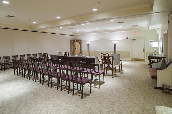 Chapel Room at the Lititz Pike Funeral Home in Neffsville, PA