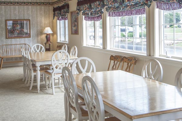 Kitchen and social room at the Lititz Pike Funeral Home in Neffsville, PA