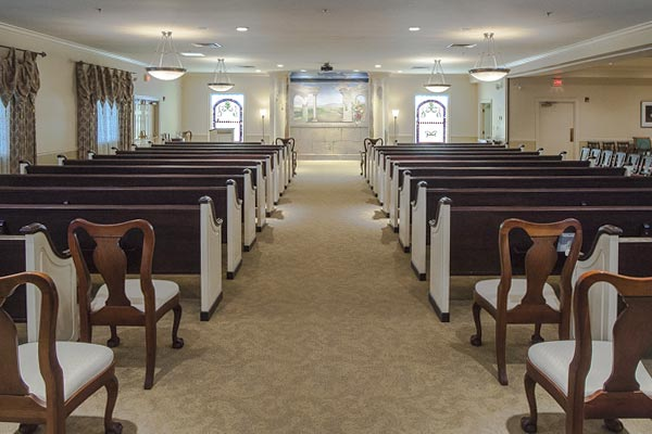 Chapel Room at Lititz Pike Funeral Home in Neffsville, PA