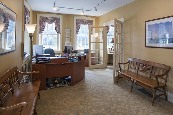 Lobby of Millersville Funeral Home