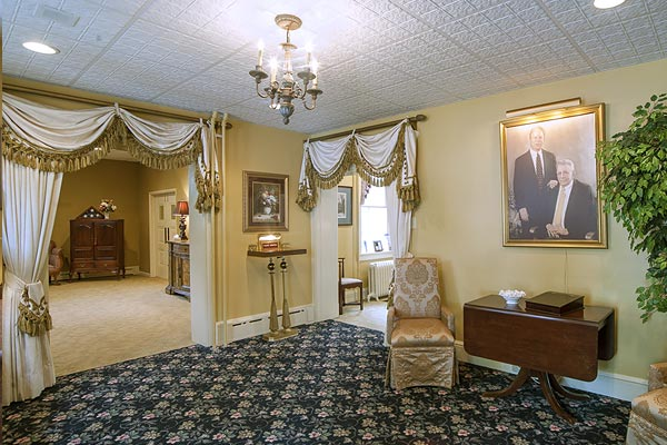 Reception room at the Millersville Funeral Home