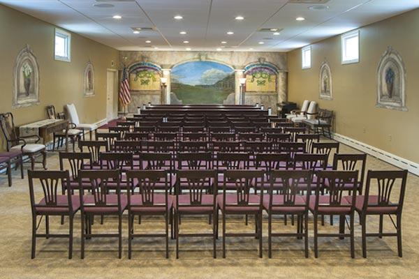 Chapel room at the Millersville Funeral Home