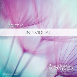 Grief is individual