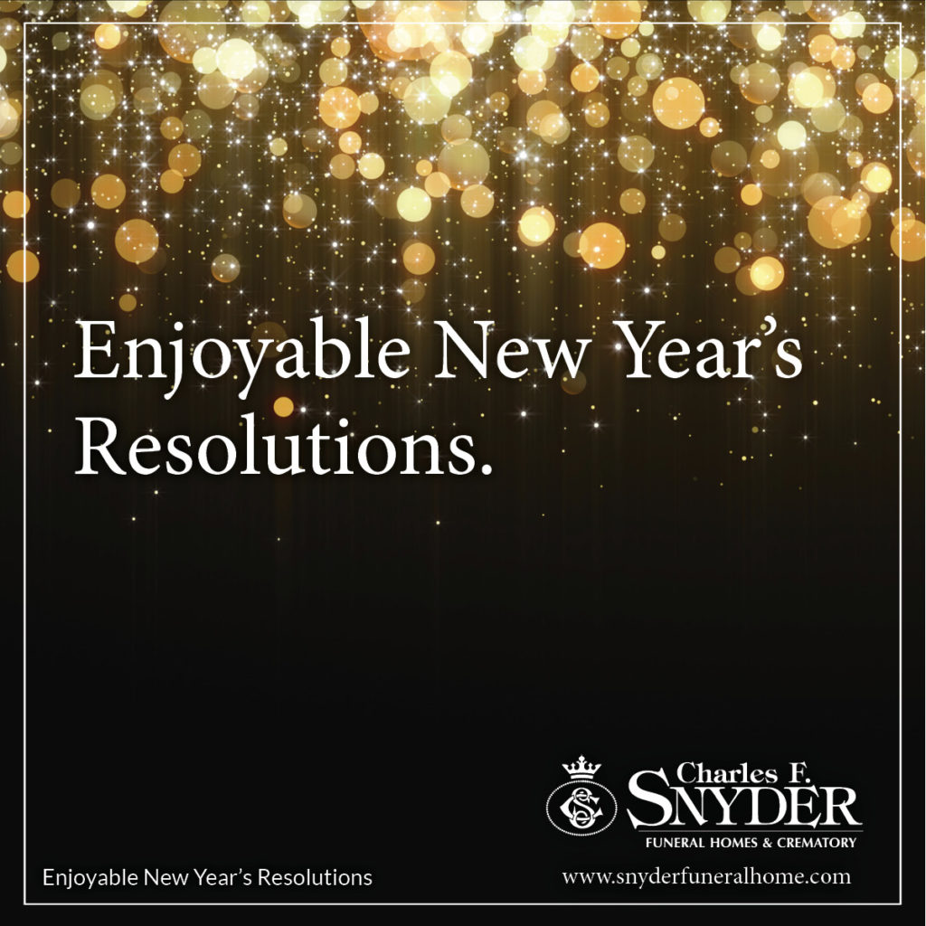 Enjoyable New Year's Resolutions