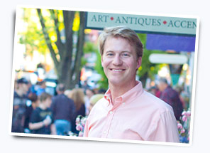 Chip Snyder at First Friday in Lancaster, PA