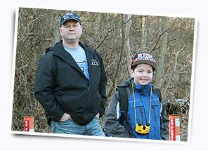 Funeral Director Mark Burkholder and son