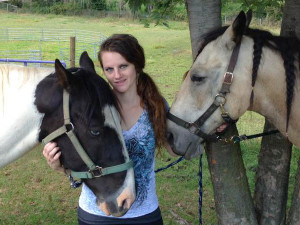 Tabitha Lindsay with her horse